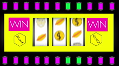 cheesy gambling gamble animation 2 - stock footage