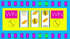 Cheesy gambling gamble animation 1 Stock Footage