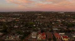 Encinita Aerial Sunset Stock Footage