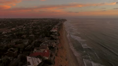 Encinita Aerial Cliffside Sunset Stock Footage