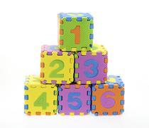 English Alphabet puzzle Stock Photos