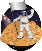 Astronaut Stock Illustration