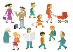 People group Stock Illustration