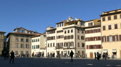 4K Italy Tuscany Toscana Florence square Piazza Santa Croce Basilica of Santa Stock Footage