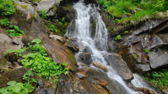 Spring waterfall Stock Footage