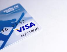 Visa Electron Card . - stock photo