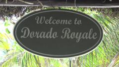 El Dorado Royale Resort Sign - Zoom Out Stock Footage