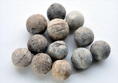 Historical musket balls - stock photo