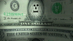 Evil dollars print laugh laughing Stock Footage