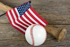 Baseball with American flag Kuvituskuvat