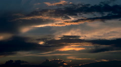 Beautiful clouds at sunset - stock footage