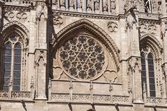 Burgos cathedral rosette. Stock Photos