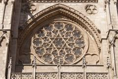 Burgos cathedral rosette. Stock Photos