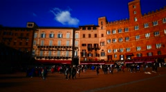 4K Italy Tuscany Toscana Siena old town Square Piazza del Campo - stock footage