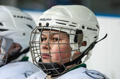 Junior ice hockey player Stock Photos