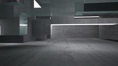 Empty dark abstract concrete room interior Stock Footage