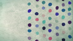 Stock Video Footage of Vintage abstract painted dots background animation