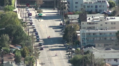 President Barack Obama motorcade in Burbank Stock Footage
