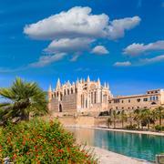 Majorca Palma Cathedral Seu Seo of Mallorca - stock photo