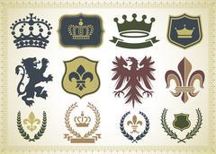 Heraldry Ornaments - stock illustration