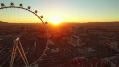 Las Vegas Aerial Cityscape Strip Sunrise Stock Footage