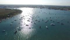 Boat party floatopia 3 Stock Footage