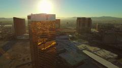 Las Vegas Aerial Cityscape Strip Sunrise Stock Footage