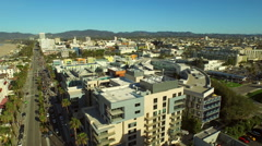 Los Angeles Aerial Santa Monica - stock footage