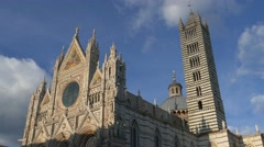 4K Italy Tuscany Toscana Siena old town Gothic Cathedral Duomo - stock footage