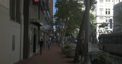 Walking on SW 6th Avenue, Portland, Oregon Stock Footage