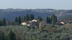 4K Italy Tuscany Toscana scenic Landscape Olive tree plantation Stock Footage