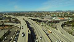 Los Angeles Aerial Freeway Interchange - stock footage