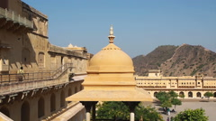 Stock Video Footage of View at Amber Fort in Jaipur, Rajasthan, India