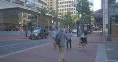 Walking near the Apple Store in Portland, Oregon Stock Footage