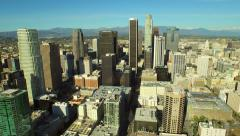 Los Angeles Aerial Downtown Cityscape Stock Footage