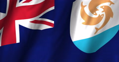 Anguilla Waving Flag-4K Stock Footage