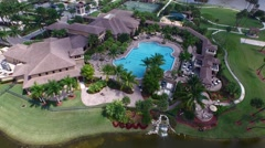 Country Club Aerial 1 Stock Footage
