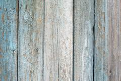 Blue Fading Paint on Wood. - stock photo