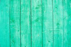 Fading Aqua Paint on Wood. Stock Photos