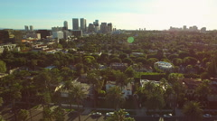 Stock Video Footage of Los Angeles Aerial Beverly Hills