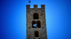 Italy Tuscany Toscana Impruneta village main square Stock Footage
