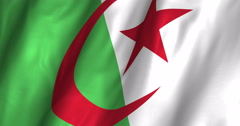 Algeria Waving Flag-4K - stock footage