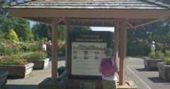 Entrance to the International Rose Test Garden, Portland Stock Footage