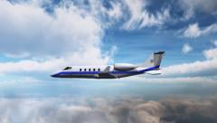 Luxury Corporate Jet - air to air - close up - stock footage