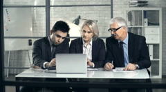 Department Briefing Stock Footage