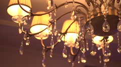 Chrystal chandelier Stock Footage