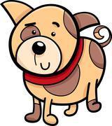 Spotted puppy cartoon illustration Stock Illustration