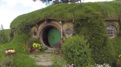 Bagend Hobbit hole 6 Stock Footage