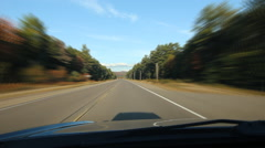 Sunny drive on straight road in Northern Ontario. Time lapse. Stock Footage