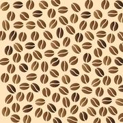 Some coffee beans Stock Illustration
